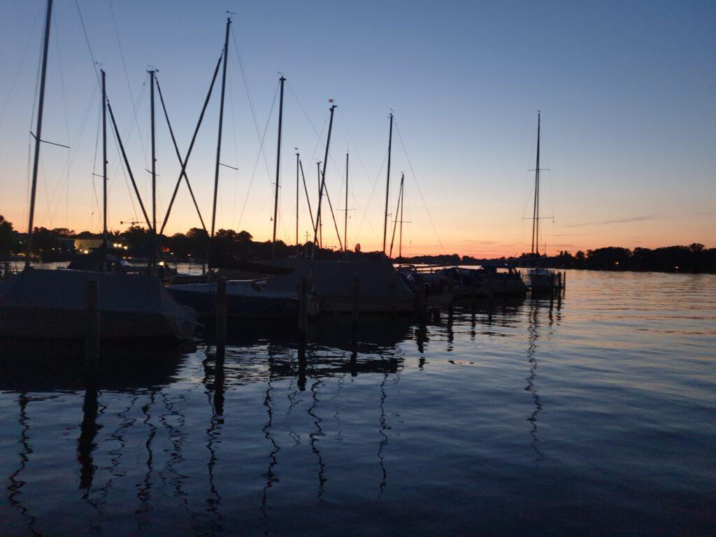 Sonnenuntergang in der SGW